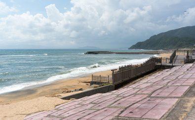 ゴールドビーチ大浜海水浴場の砂浜